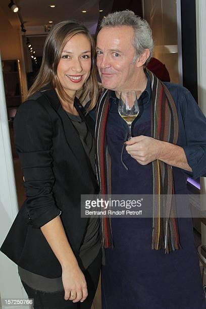 "French chef Alain Passard , of restaurant ""L'Arpege"", and Head International of PR of La Cornue, Macha Kontchakova, attend a traditional craftsman..."