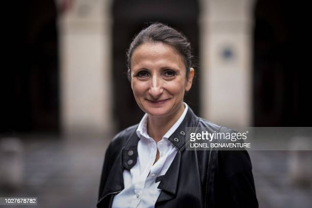 French chef AnneSophie Pic poses during a photo session on september 6 2018 in Paris