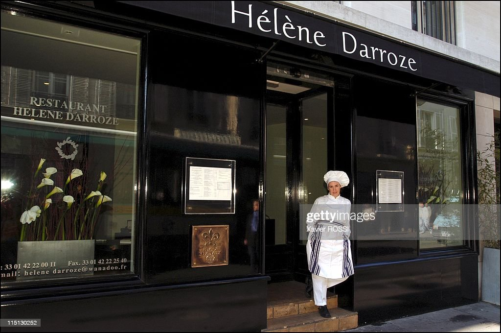 French Chef Helene Darroze Awarded 2 Stars In The 2003 Michelin Guide In Paris, France In February, 2003. : News Photo