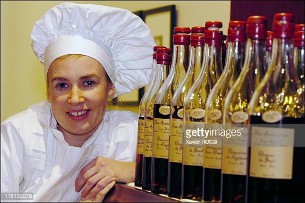 French chef Helene Darroze awarded 2 stars in the 2003 Michelin guide in Paris France in February 2003 In her restaurant on the rue d'Assas with the...