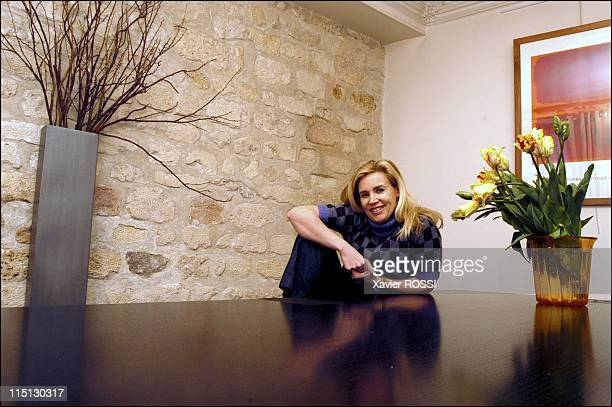 French chef Helene Darroze awarded 2 stars in the 2003 Michelin guide in Paris France in February 2003 At home