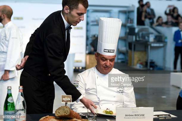 French chef Jerome Bocuse is served during the Europe 2018 Bocuse d'Or International culinary competition Best ten teams will access to the world...