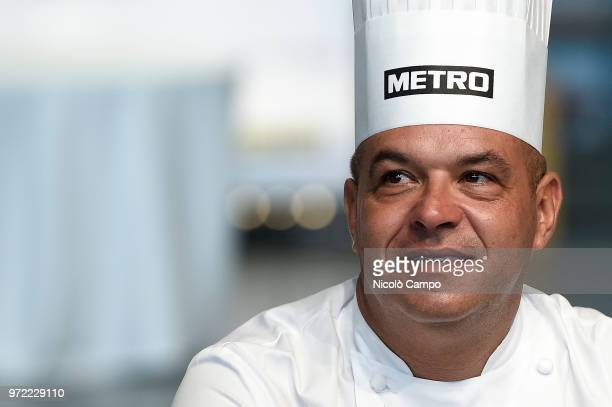 French chef Jerome Bocuse looks on during the Europe 2018 Bocuse d'Or International culinary competition Best ten teams will access to the world...
