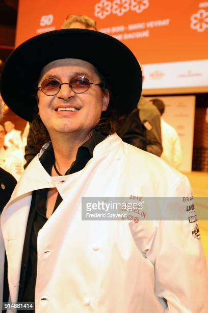 French chef Marc Veyrat during Michelin Award ceremony 2018 at Philharmonie De Paris on February 5 2018 in Paris France The 2018 Michelin Guide...