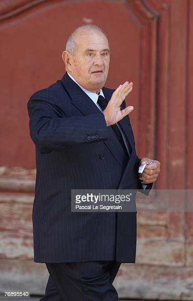 French chef Paul Bocuse arrives to attend French TV star Jacques Martin's funeral on September 20 2007 in Lyon France