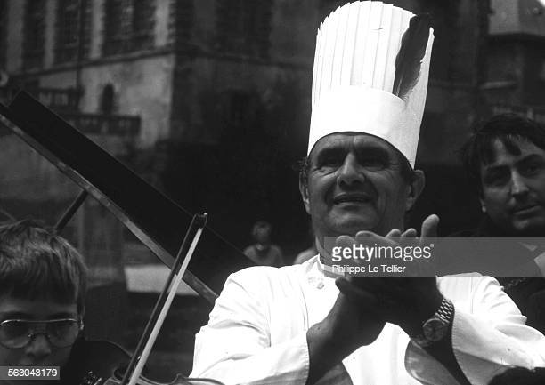 French chef Paul Bocuse at the Institut Paul Bocuse in Ecully France in 1989