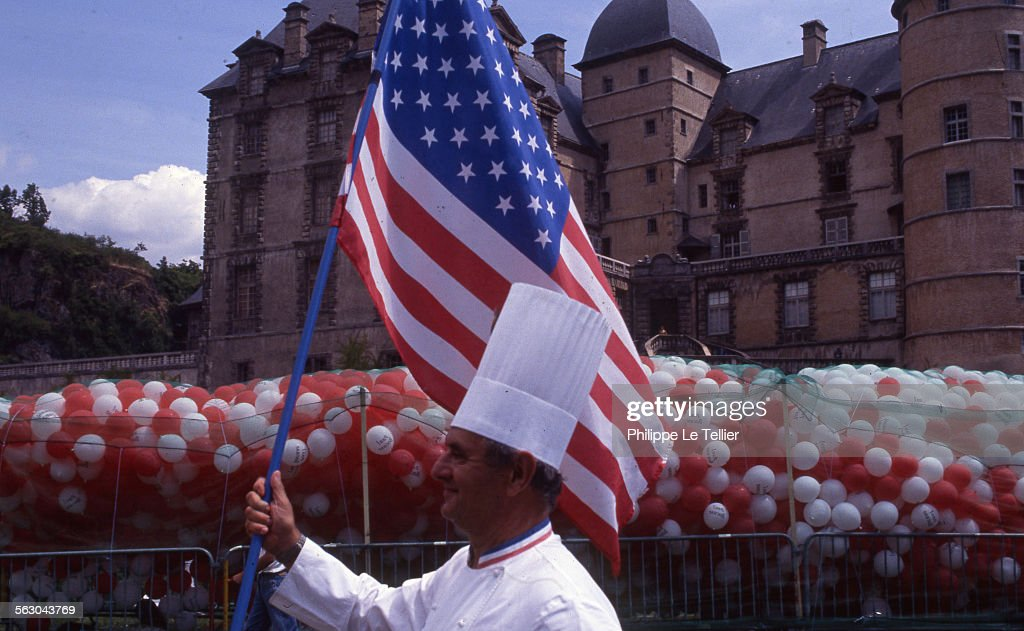 French chef Paul Bocuse at the Institut Paul Bocuse in Ecully France in 1989.