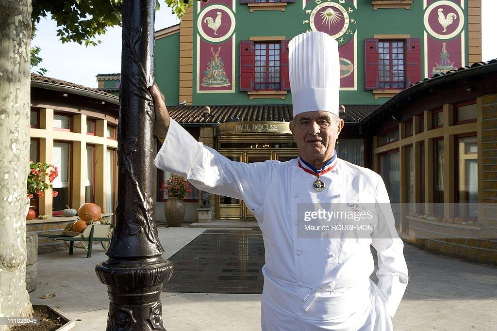 French Chef Paul Bocuse in his restaurant 'L'Auberge du Pont de Collonges' in Collonges au Mont d'Or, Lyon, France on October 3rd,2007.