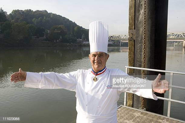 French Chef Paul Bocuse in his restaurant 'L'Auberge du Pont de Collonges' in Collonges au Mont d'Or Lyon France on October 3rd2007