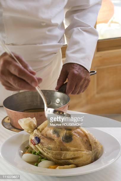French Chef Paul Bocuse in his restaurant 'L'Auberge du Pont de Collonges' in Collonges au Mont d'Or Lyon France on October 3rd2007