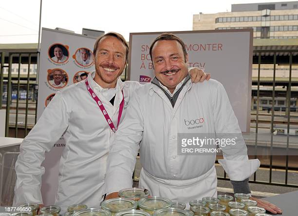 French chefs Vincent Ferniot and his brother Simon Ferniot who created the fast food restaurant chain Boco and signed a deal with the SNCF train...