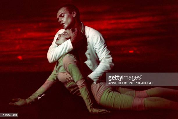 French choreographer Angelin Preljocaj, head of the National Center of Choreography in Aix-en-Provence, southern France, performs with a female...