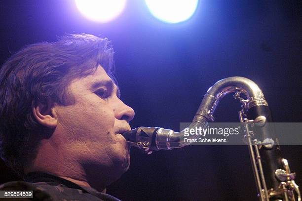 French Clarinet player Louis Sclavis performs at the North Sea Jazz Festival on July 10th 2004 in Amsterdam, Netherlands.