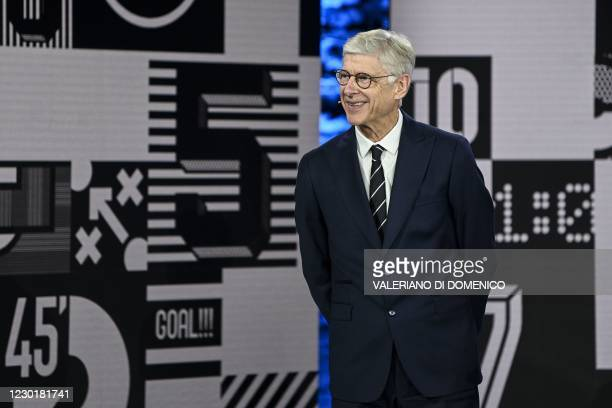 French coach Arsene Wenger reacts on stage during The Best FIFA Football Awards 2020 ceremony, at the FIFA headquarters in Zurich, on December 17,...