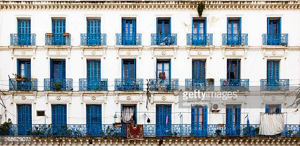 french colonial building in algiers - algiers algeria stock pictures, royalty-free photos & images