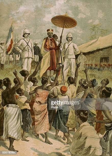 French colonial empire under the 3rd Republic The new king of Dahomey France Colonization