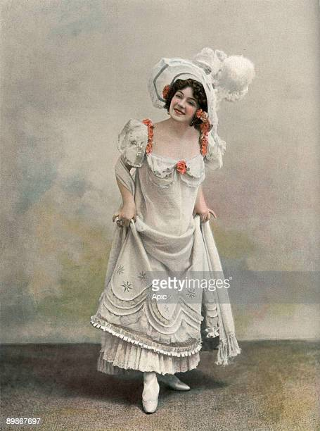 French comedian Amelie Dieterle in play Paris qui marche photo from french paper Le Theatre february 1898