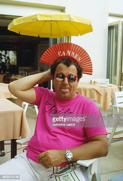 French comedian and actor Coluche at the 1986 International Cannes Film Festival