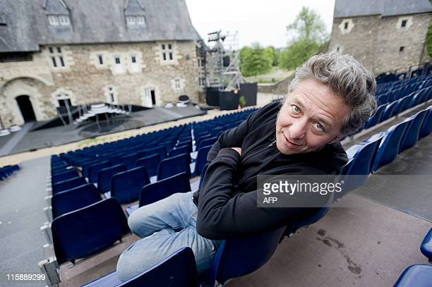 French comedian and director Nicolas Briançon poses on June 9 2011 at the Chateau du PlessisMacé near the French western city of Angers as he...