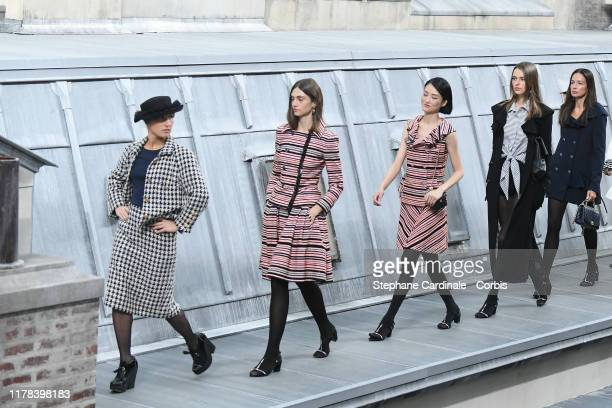 French comedian Marie Benoliel aka 'Marie S'Infiltre' walks the runway during the Chanel Womenswear Spring/Summer 2020 show as part of Paris Fashion...