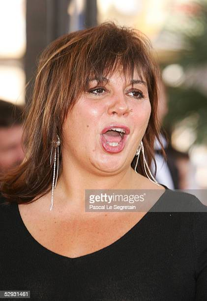 French comedian Michele Bernier attends the screening of Peindre Ou Faire L'Amour at the Palais during the 58th International Cannes Film Festival...