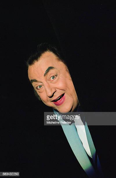 French comedian Raymond Devos performs live in Paris.