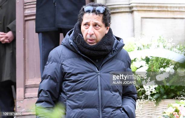 French comedian Smain Fairouze aka Smain arrives to attend the funeral ceremony for French music composer Michel Legrand at the Saint Alexandre...