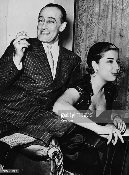 French comedian Toto and his wife, actress Franca Faldini, relaxing together, March 8th 1952.