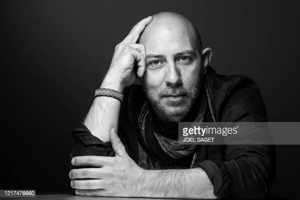 French comic book artist, illustrator and concept artist for movies, Mathieu Lauffray poses during a photo session in Paris, on June 3, 2020.
