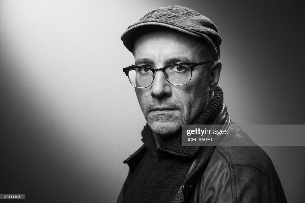 french comic illustrator pascal rabate poses during a photo session
