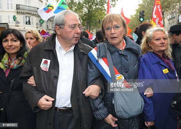 French communist party national secretary Marie George Buffet Paris' region socialist president JeanPaul Huchon and Paris' first deputy mayor Anne...