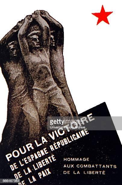 French Communist propaganda poster 1936 during the Spanish Civil War