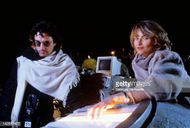 French composer and musician Jean Michel Jarre with his wife British actress Charlotte Rampling in London 6th October 1988 Jarre is in the capital...