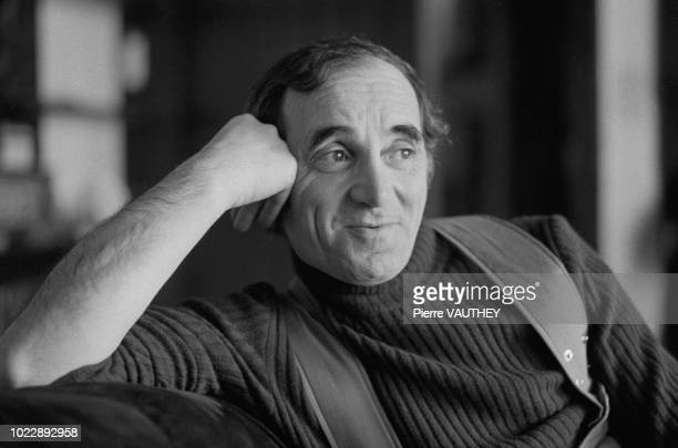 French composer Charles Aznavour at their home in Crans sur Sierre Switzerland 01st March 1974