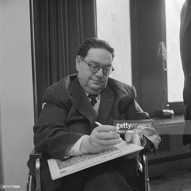 French Composer Darius Milhaud Signing Record Jacket