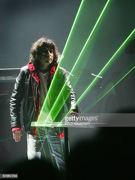 French composer Jean Michel Jarre performs for the 200th anniversary of the Danish fairy story teller celebrated with a big show 'Once Upon A Time'...