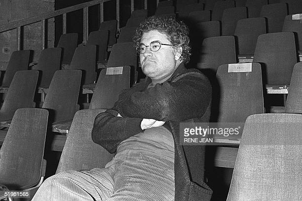 French composer Pierre Henry listens to his music during a sound check at the Laine warehouse 14 November 1979 in Bordeaux