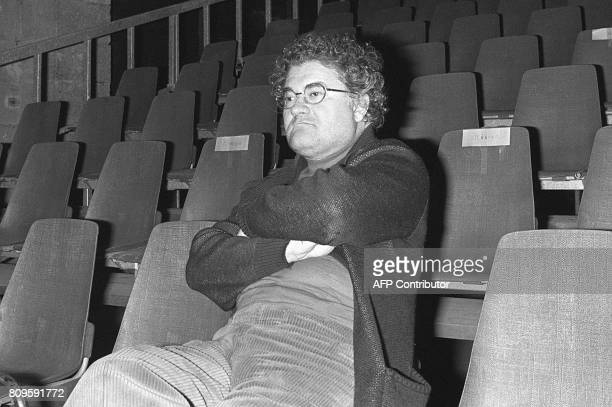 French composer Pierre Henry listens to his music during a sound check at the Laine warehouse 14 November 1979 in Bordeaux / AFP PHOTO / RENE JEAN