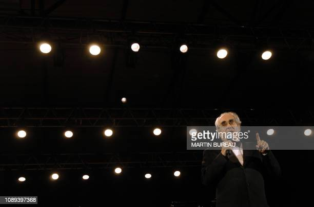 French composer singer and conductor Michel Legrand speaks on October 23 2004 in Auxerre during the 5th edition of the International Festival of...