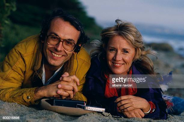 French composer songwriter arranger and conductor Michel Colombier and American writer and songwriter Kathleen Wakefield
