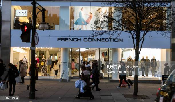 French Connection store seen in London famous Oxford street Central London is one of the most attractive tourist attraction for individuals whose...