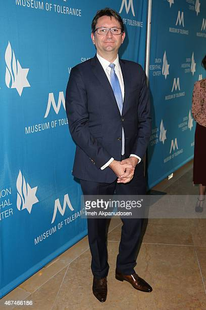 French Consul General Axel Cruau attends the Simon Wiesenthal Center 2015 National Tribute Dinner at The Beverly Hilton Hotel on March 24 2015 in...