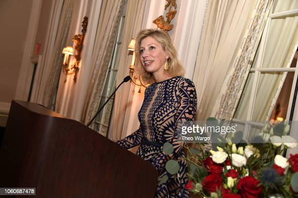 French Consul General in NY AnneClaire Legendre attends the 2018 American Friends of Blerancourt Dinner on November 9 2018 in New York City