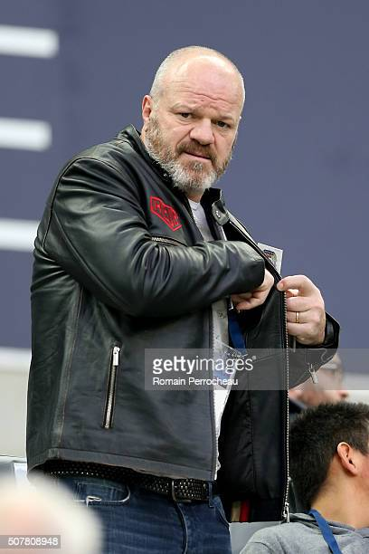 French cook Philippe Etchebest looks on before the French Ligue 1 match between FC Girondins de Bordeaux and Stade Rennais at Stade Matmut Atlantique...