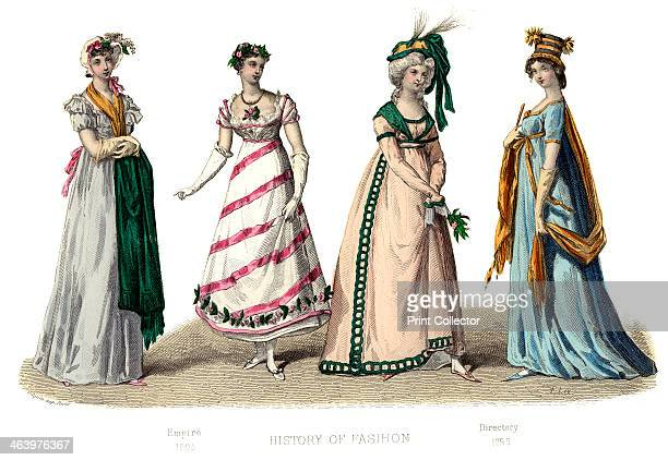 Empire Illustration showing costume from 17951804 from The History Of Fashion In France by Augustin Challamel Frances Cashel Hoey and John Lillie