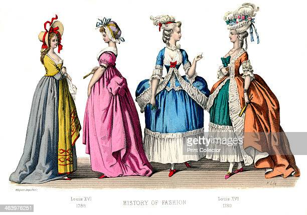 Louis XVI, . Illustration showing costume from 1780-1789, from The History Of Fashion In France by Augustin Challamel, Frances Cashel Hoey and John...