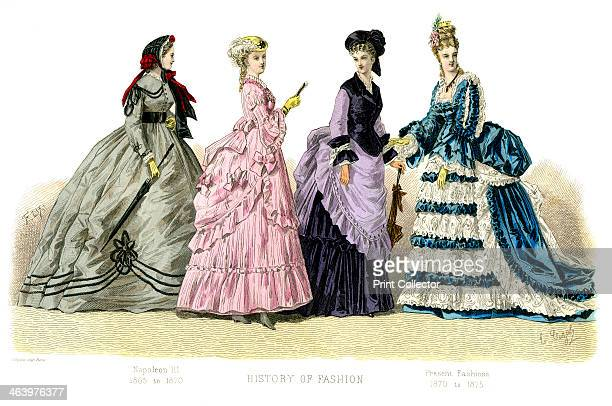 'Napoleon III Present Fashions' Illustration showing costume from 18631875 from The History Of Fashion In France by Augustin Challamel Frances Cashel...