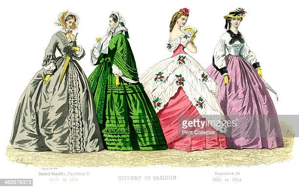 Second Republic Napoleon III Illustration showing costume from 18321864 from The History Of Fashion In France by Augustin Challamel Frances Cashel...