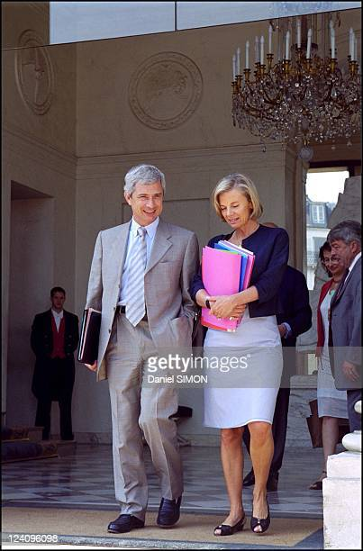 French council minister In Paris France On July 25 2001 Claude Bartolone and Elisabeth Guigou