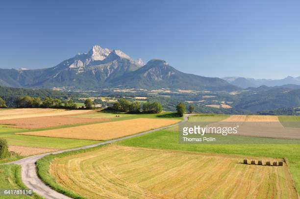 French countryside near the Alp moutains